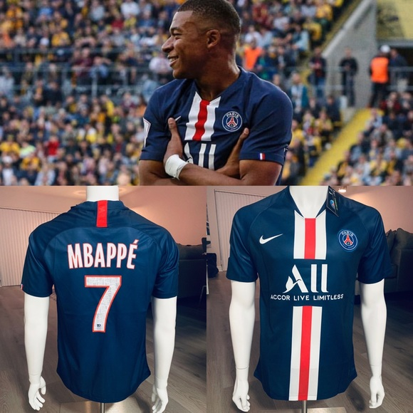the best attitude 48a13 be0eb New 19/20 PSG Home soccer jersey Mbappe # 7 NWT